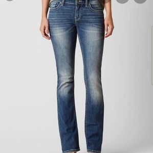 BKE Stella Distressed Bootcut Jeans